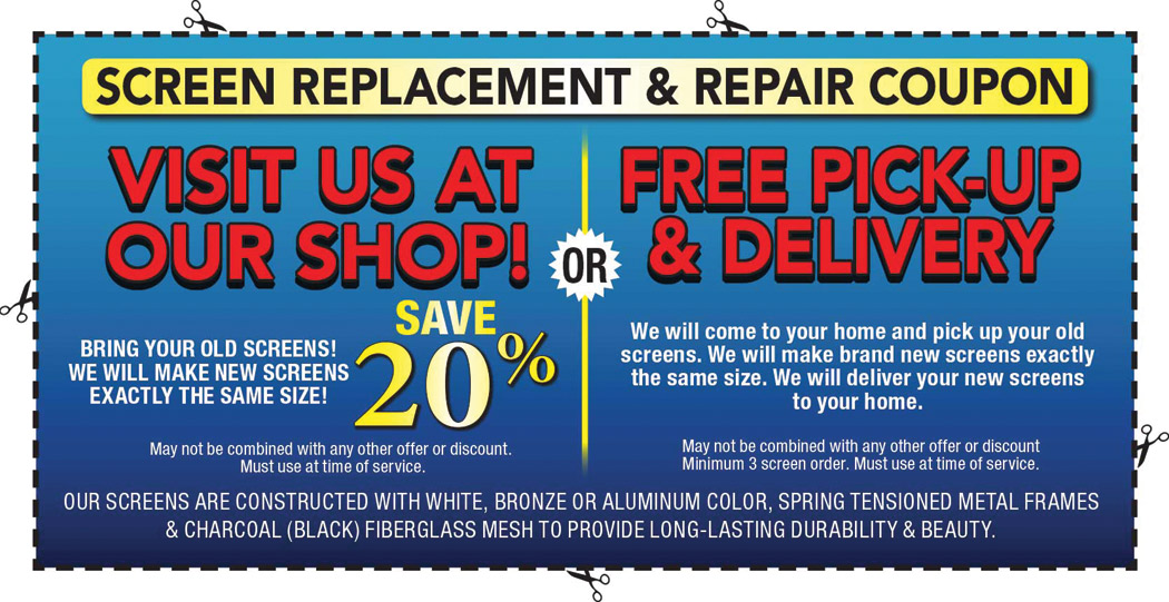 Screen Replacement & Repair Coupon